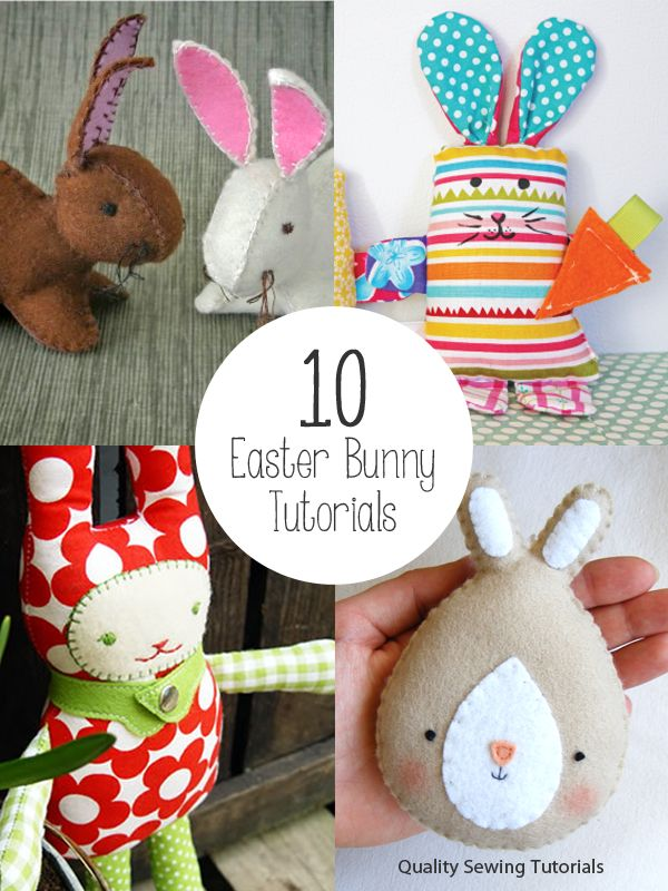 10 Easter Bunny Tutorials - free sewing instructions and patterns for ten bunny rabbits!