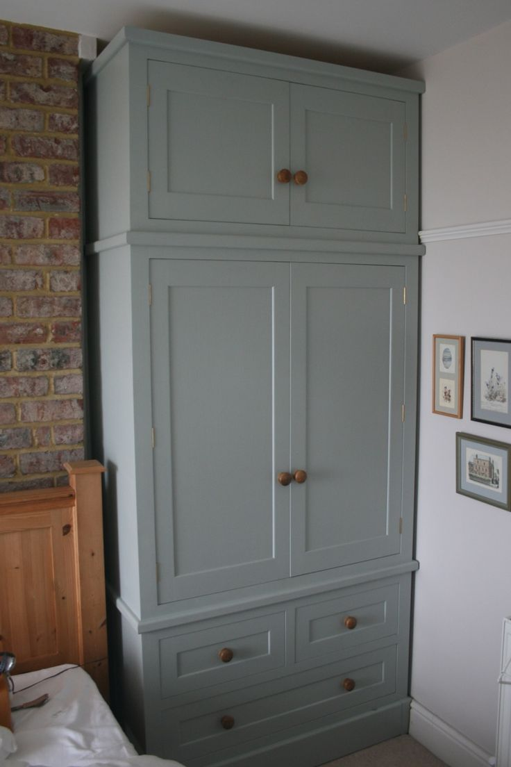 how to put shelves in an old wardrobe