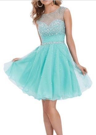 I want to look my best for graduation day. This blue toned lace dress is so beautiful...