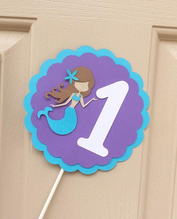 Sirena paquete sirena bandera trona Smash pastel de cumpleaños