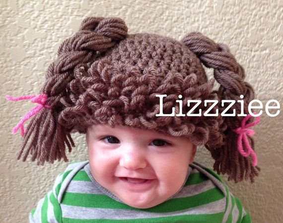Doll Hair hat crochet pattern  Cabbage Patch Wig  by lizzziee, $3.99