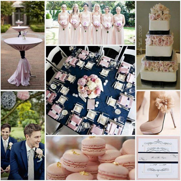 Navy & blush pink wedding - modern glamour.