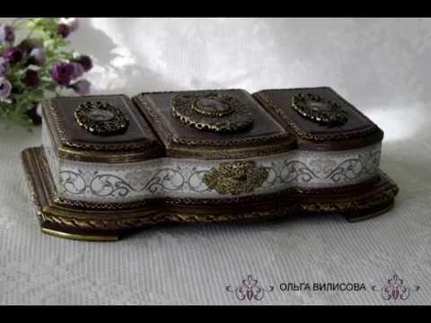 Декор молда или накладки на шкатулку. - YouTube