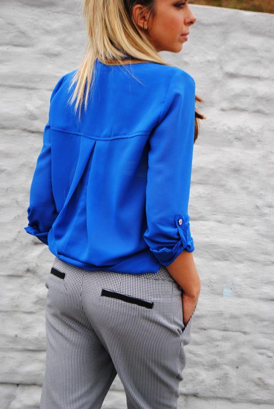 Spodnie w drobna pepitkę