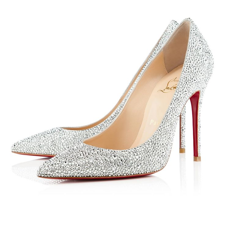 Decollete 554 Strass 85 Aurora Boreale Strass - Women Shoes - Christian  Louboutin. Red High HeelsSilver ...