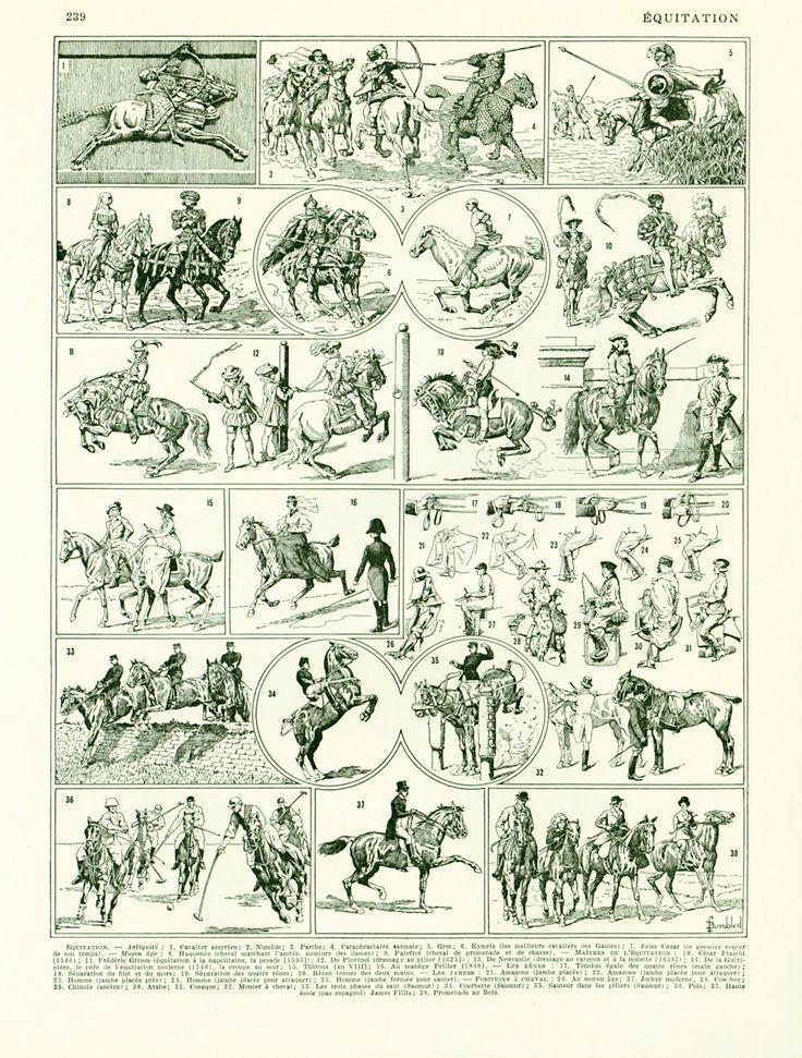 1930 Planche Originale Equitation Illustration Sport scrapbooking loisirs Créatifs  décor vintage de la boutique sofrenchvintage sur Etsy