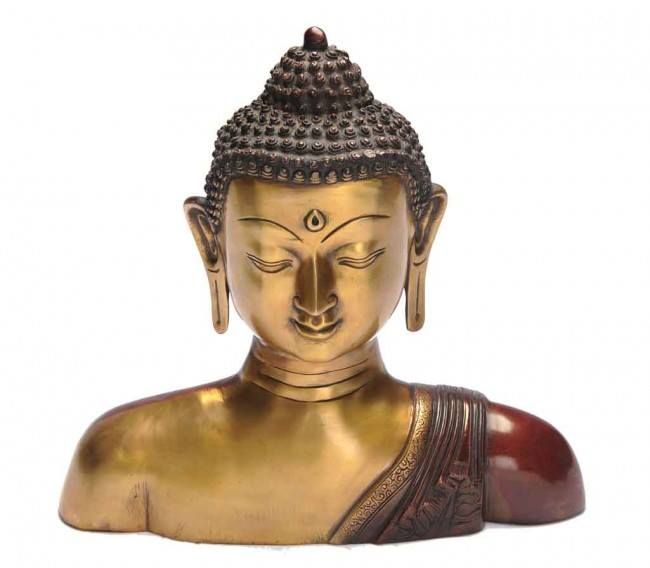 "#Exclusive home n #decor items ! Meditating Buddha Bust 14"" - Copper Red Polish @ http://goo.gl/TTN92z"