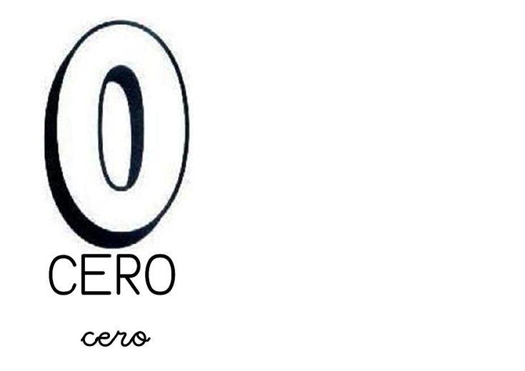 Los números para colorear cero