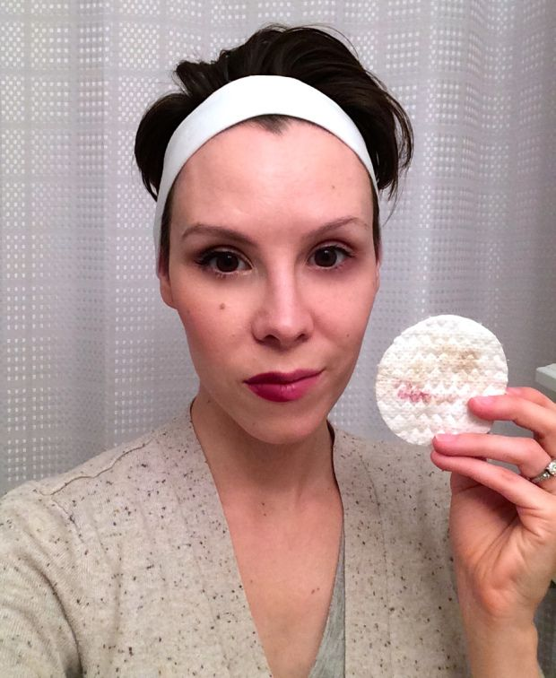 """LOAFERS AND POLISH """" I was honestly surprised at how effortlessly my makeup came off with just a swipe of my fingers."""""""