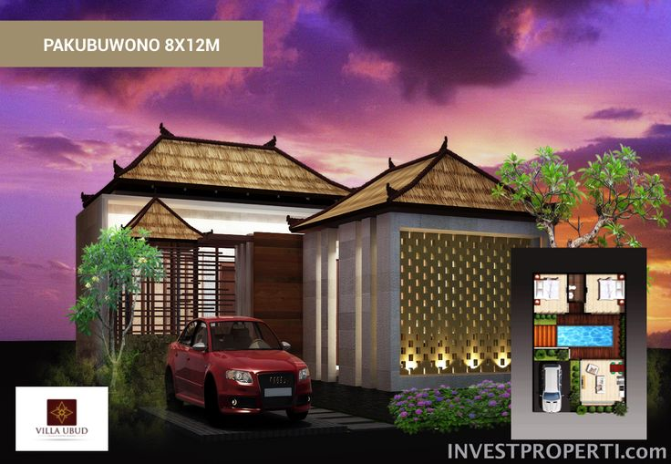 Tipe Pakubuwono 8x12 Villa Ubud Anyer.