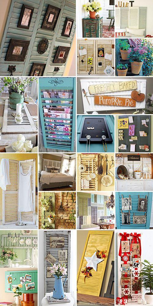 Best 25+ Shutter Decor Ideas On Pinterest | Window Shutters Decor, Shutter  Wall Decor And Old Shutters