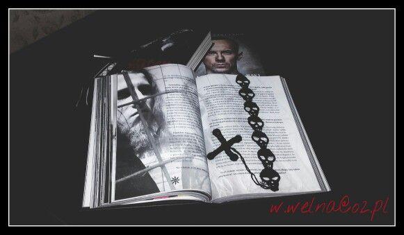 Zakładka :)  #zakładka #book #handmade #Nergal #vader #behemoth #czaszka