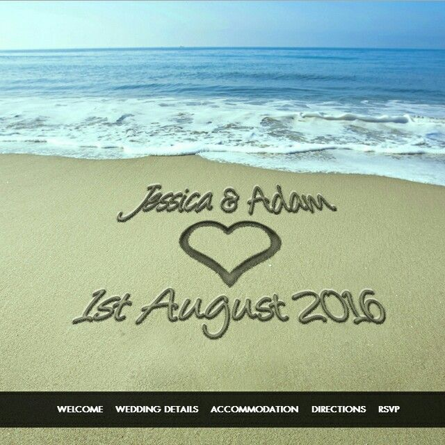 Write you and your fiance's names in the sand with our beautiful 'Beach Theme' #Wedding Website. Ideal if you are having your wedding in a idyllic resort!Theme includes guest #RSVP tool! Click our website link in our bio to create your Wedding Website today.