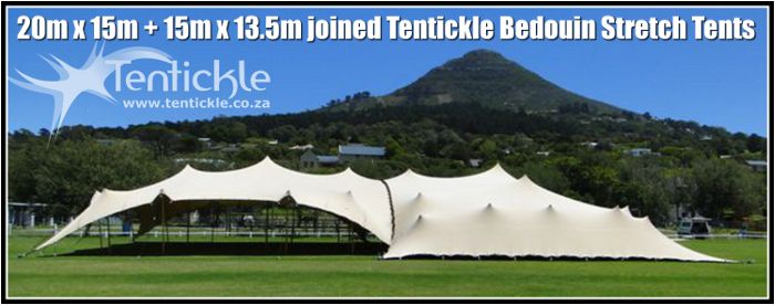 Join tents to create any size space