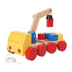MULA クレーン車 ブロック付, ビーチ, マルチカラー 長さ: 28 cm 幅: 15 cm 高さ: 11 cm