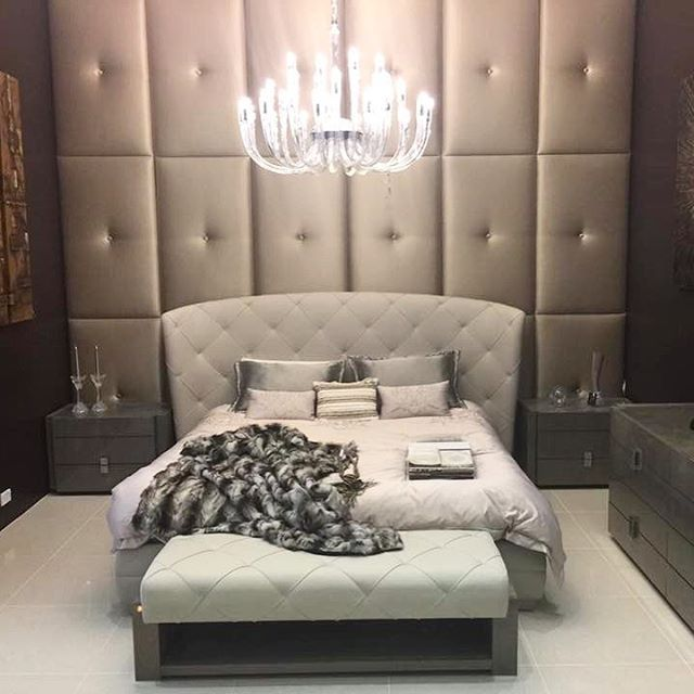 Secret Love bedroom suite featuring quilted 1st grade Italian leather #madeinitaly at our #goldcoastshowroom www.sovereigninteriors.com.au