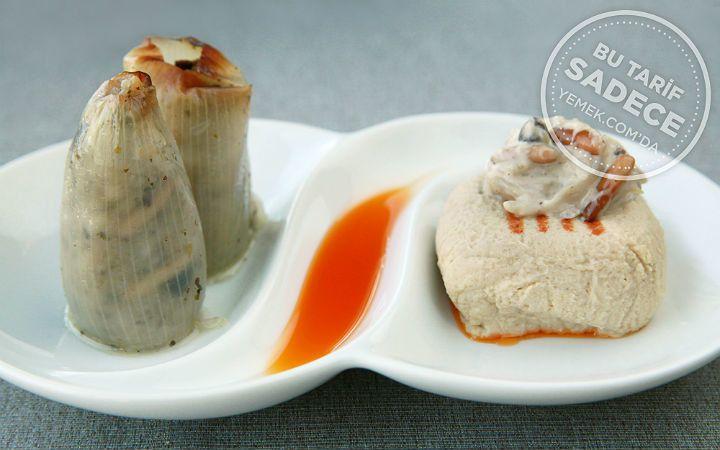 Tuti Restaurant'tan Tahinli, Fıstıklı Topik ve Soğan Dolması Tarifi