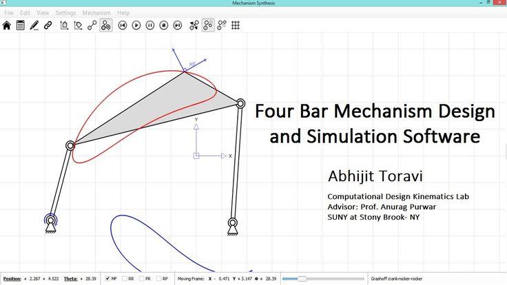 Four Bar Mechanism Design And Simulation Software Robots