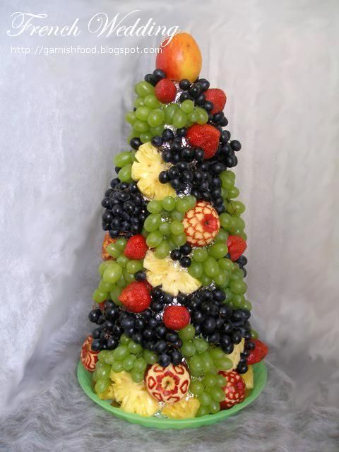 French wedding fruit tower food art pinterest