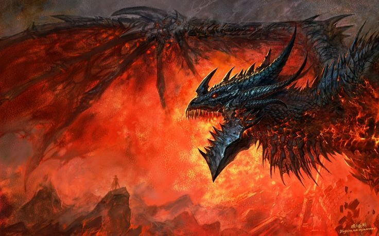 Dragons World Of Warcraft Deathwing Artwork Cool Games Wallpapers