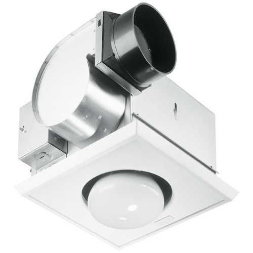 Bathroom 70 Cfm Exhaust Fan With Heat Lamp And Light