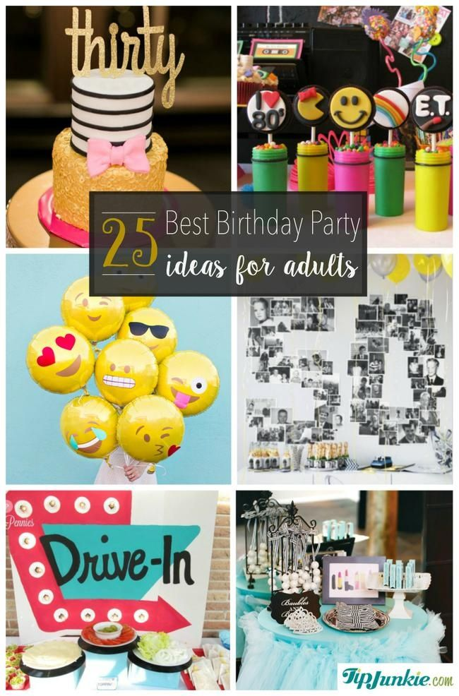 17 best images about birthday celebrations on pinterest for Adult party decoration ideas