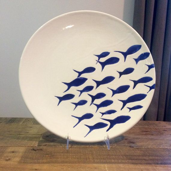 Hey, I found this really awesome Etsy listing at https://www.etsy.com/listing/262141374/large-ceramic-serving-platter-blue-and