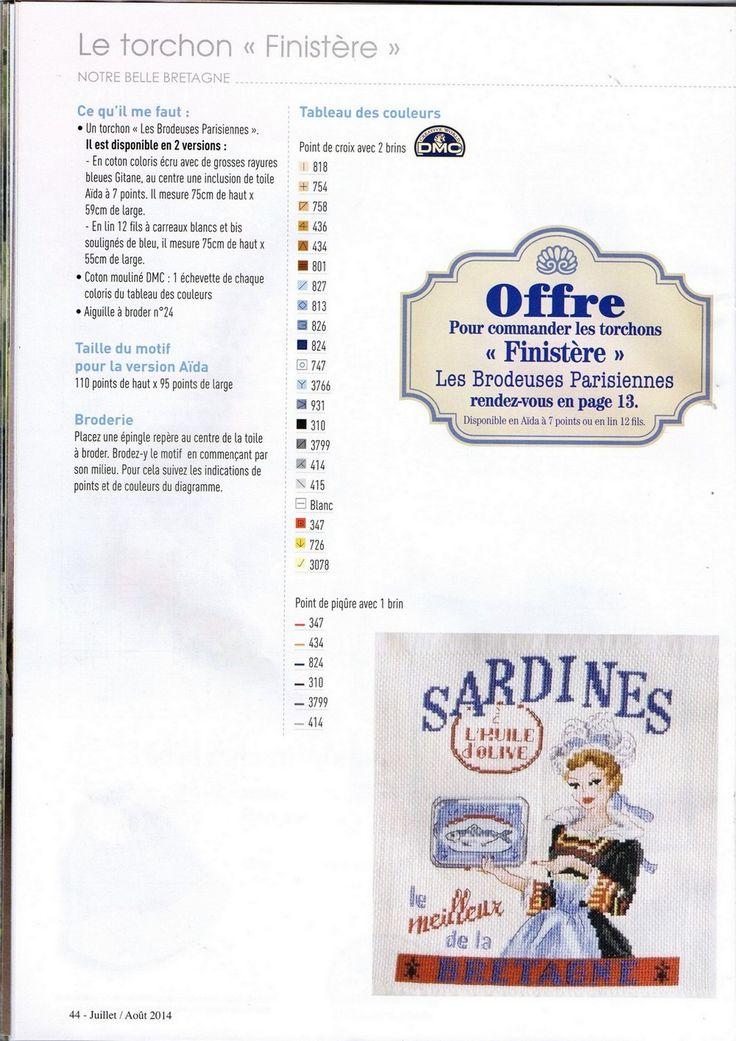 Les Brodeuses Parisiennes / mag. Création Point de Croix N°40 V.Enginger…
