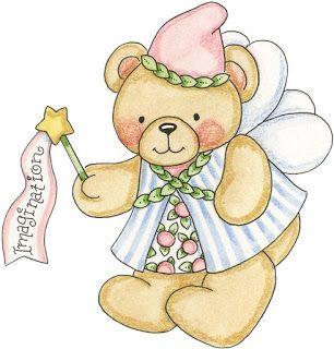 Imagen osos hadas para imprimir-Imagenes y dibujos para imprimir