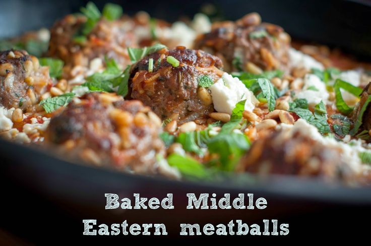 Baked Middle Eastern Meatballs