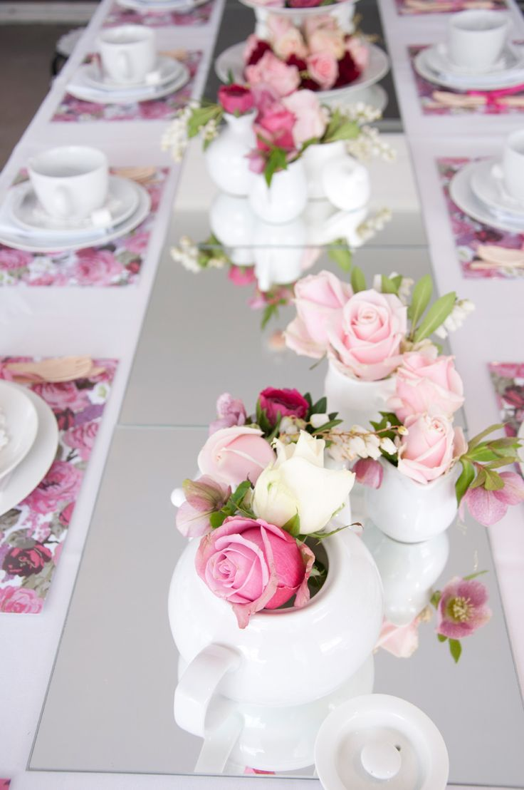 High Tea party Wouldn't this be beautiful for baby girl shower?