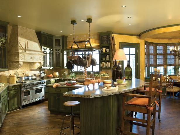 Multicolored Arts And Crafts Kitchen In Beautiful, Efficient Kitchen Design  And Layout Ideas