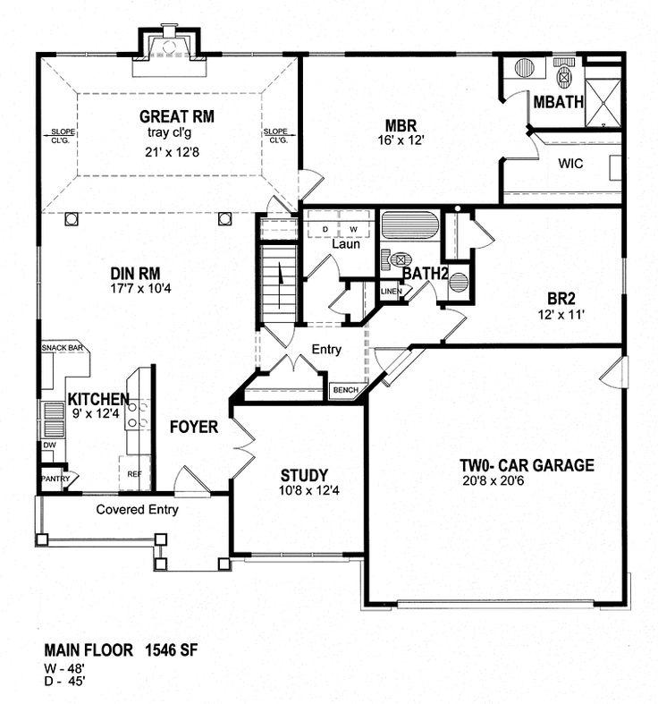 Cape Cod Coastal Cottage Craftsman Ranch House Plan 94133 Level One
