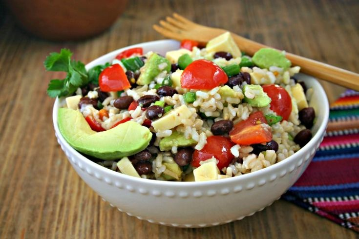 Chilled Santa Fe Rice Salad is a great side dish idea for taco night and is even filling enough for a light workday lunch.