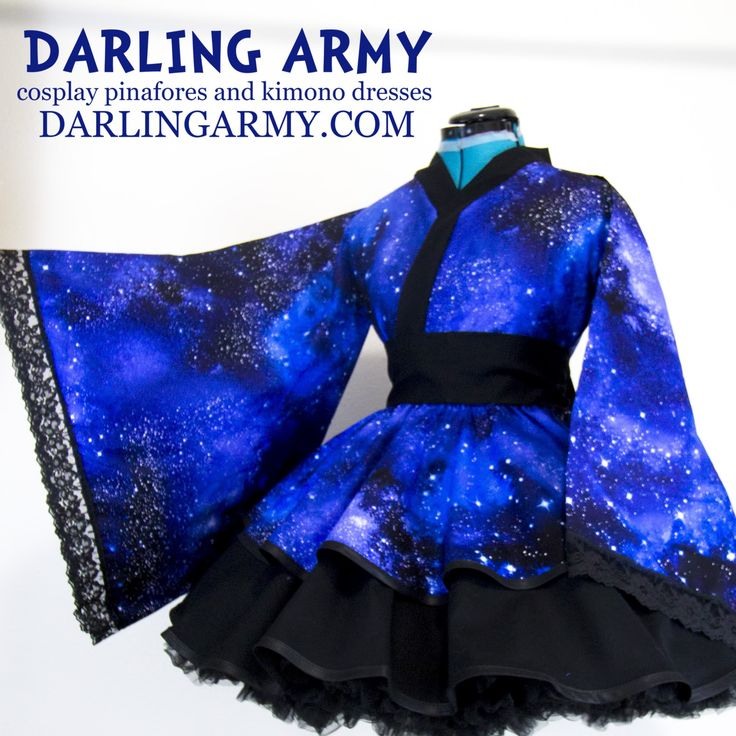 Galaxy Cosplay Kimono Dress. Galaxy is the new black.