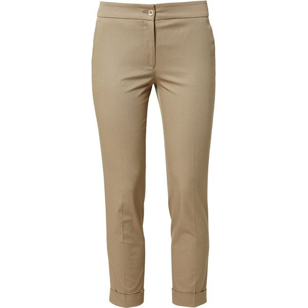 Etro Classic Cuffed-Bottom Trousers ($290) ❤ liked on Polyvore featuring pants, capris, skinny fit jeans, mid rise skinny jeans, cuff pants, brown skinny jeans and cuffed skinny jeans
