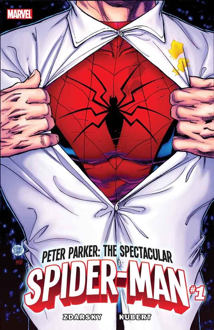 portada de Marvel con el nuevo traje de Spider-Man
