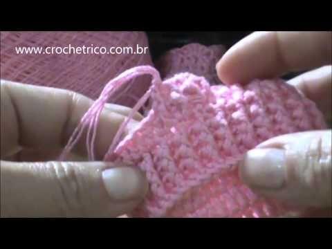 Crochê - Sapatinho para Bebê em Ponto Barra (Recém Nascido) - Parte 05/05 - YouTube
