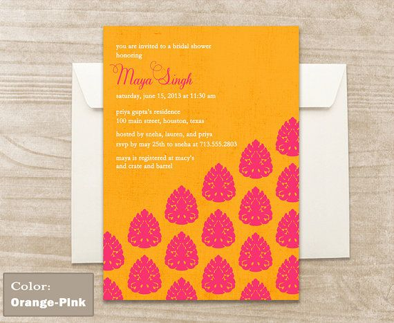 Brocade Pattern Invitation by CraftCoutureStudios on Etsy, $2.00