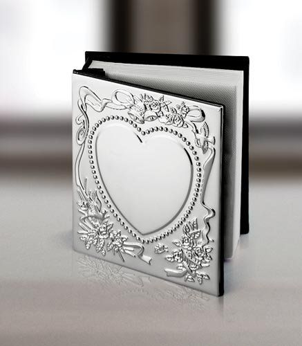 SWEETHEART nickel-plated silver album holds 100 4x6 photo...