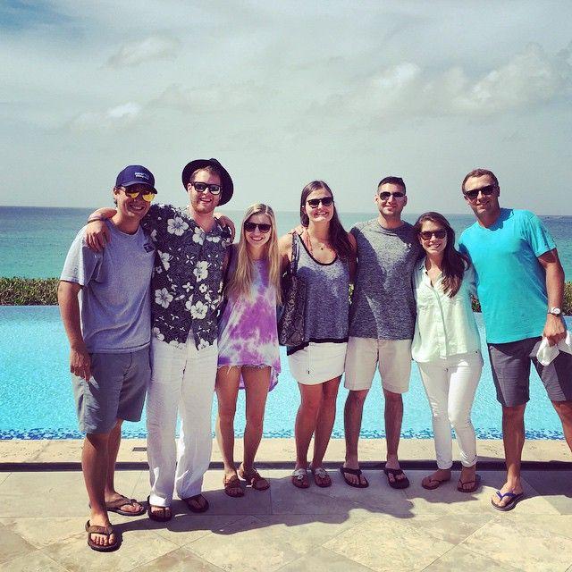 jordan spieth and his girlfriend annie verret in the Bahamas June 2015