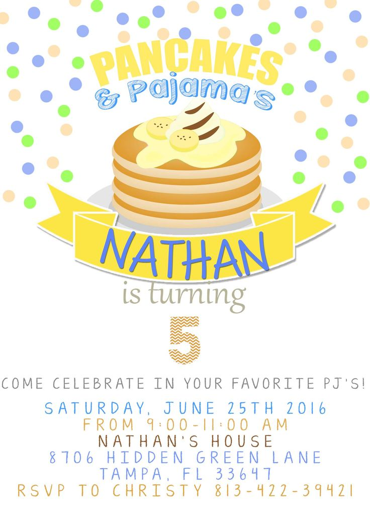 37 best Boy Birthday Invitations printables images – Pancake Party Invitations
