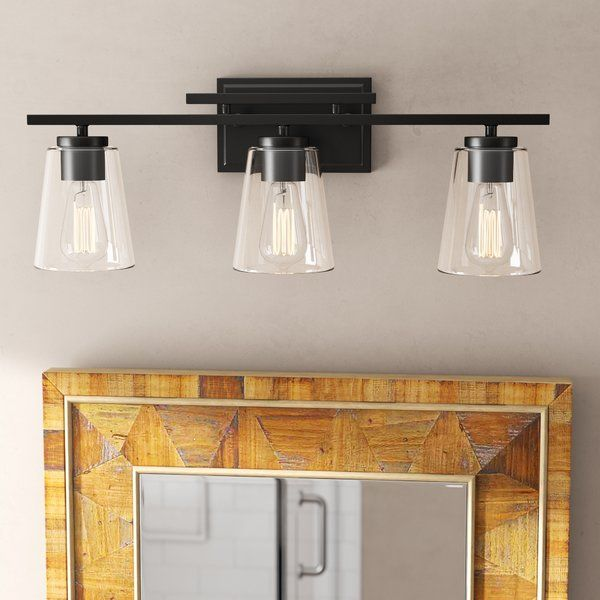 Woodbine 3 Light Bath Bar Vanity Lighting Black Vanity Light