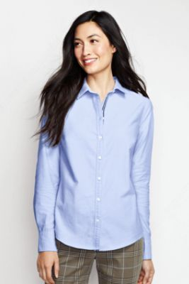 Women's Washed Oxford Shirt with Ribbon from Lands' End