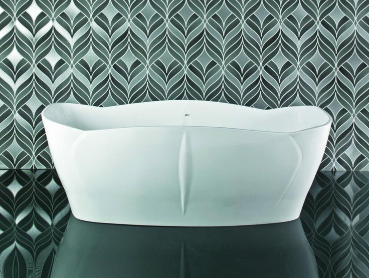 The Lotus bath, as the flower from which its name is derived, symbolises purity and perfection. The floor to length ratio of this bath ensures a larger bathing area. www.sinkandtap.com.au
