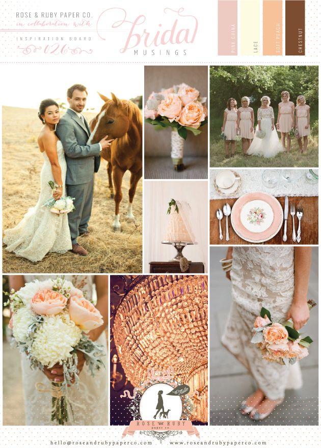 Glamorous Peach Wedding Inspiration Board