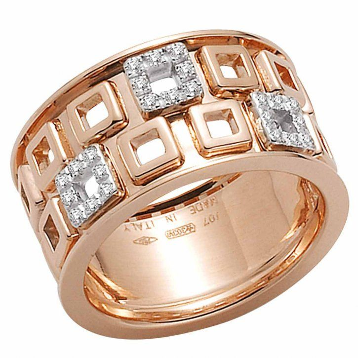 Fope rose gold & diamond ring