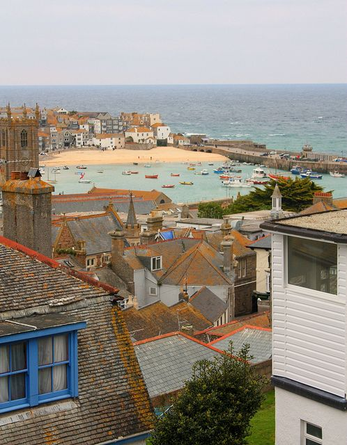 View over St Ives. Cornwall