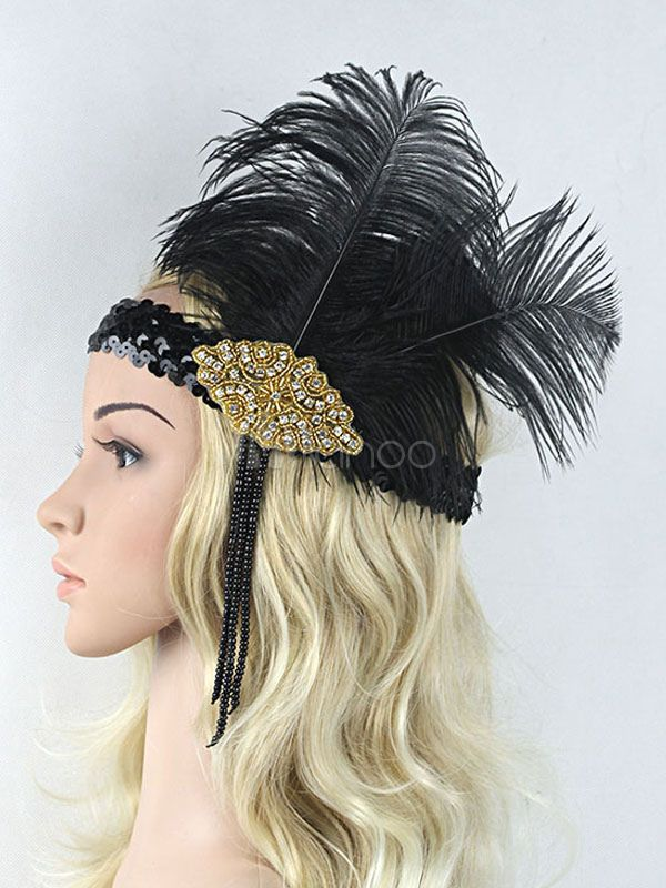 Red and Pink 1920s Headband Great Gatsby Feather Headband Rhinestone Headband Vintage Style Lace Hair Piece Pink Feather Headband