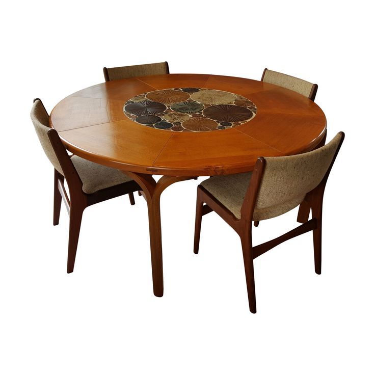 Tue Poulsen Ceramic Art dining table by Haslev of Denmark and 4 chairs from Chapmans of Newcastle